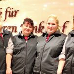 Team Kasse (v.l.) = Frau Madela, Frau Klenke, Frau Weber, Frau Rybczak, Frau Parlitz, Frau Brozio