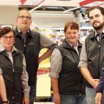 Führungsmannschaft: Markleiter Herr Brink, Stellvertreter/in Frau Tutas, Herr Bida, Frau Fuchs, Herr Lange, Inhaber Herr Schwalemeyer
